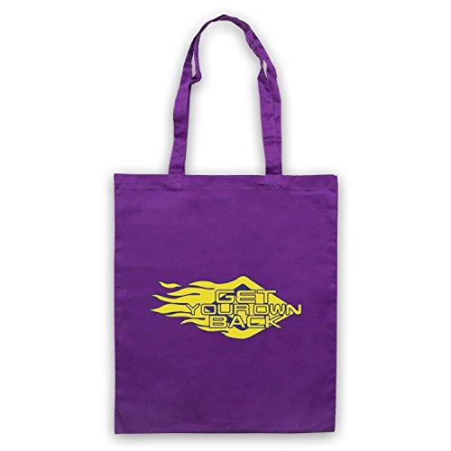 Inspiriert durch Get Your Own Back TV Gameshow Logo Inoffiziell Umhangetaschen Violett