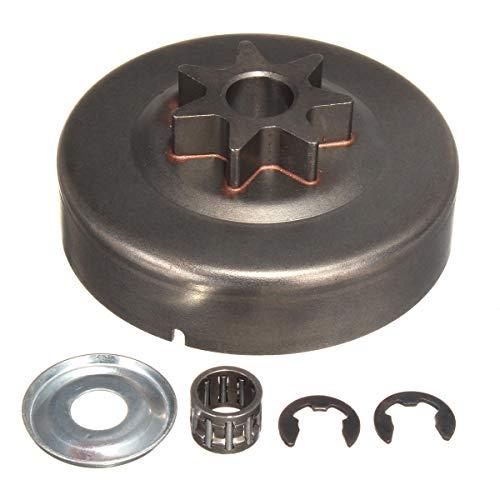 RENCALO 3/8 7T Kupplungs-Trommel-Kettenradhalterungssatz für Stihl 029 039 MS290 MS310 MS390 11256402004 Kettensäge