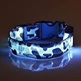 Halsbänder LED-Lampen Regolabile/Einziehbar camuflaje Nylon , green , l