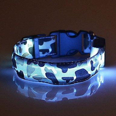Halsbänder LED-Lampen Regolabile/Einziehbar camuflaje Nylon , green , l Einziehbare Lampe