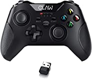 CLAW Shoot Wireless 2.4Ghz USB Gamepad Controller for PC Supports Windows XP/7/8/10 with Rubberized Textured G