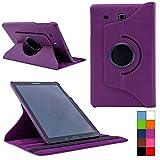 COOVY® Cover für Samsung TAB E 9.6 SM-T560 SM-T561 SM-T565 Rotation 360° Smart Hülle Tasche Etui Case Schutz Ständer | Farbe lila