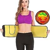 AFUT Fitnessgürtel Miedergürtel Schwitzgürtel zur Fettverbrennung Verstellbarer Neopren Sauna Bauchweggürtel