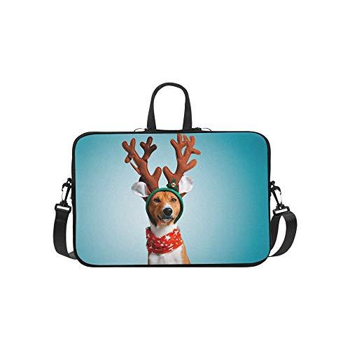 Schließen Sie Porträt-lustigen schönen Hundetragetasche-Laptoptasche-Kurier-Schulter-Arbeitstasche Crossbody-Handtasche für das Geschäftsreisen