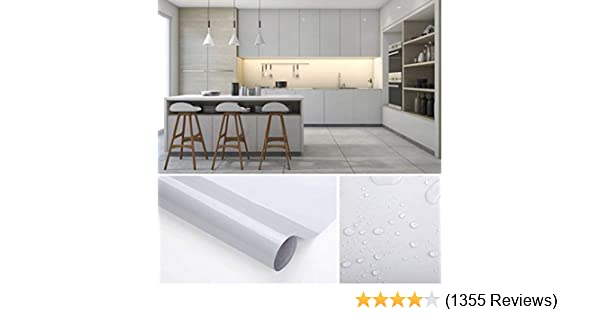 for Kitchen Counter Top Cabinets Furniture Wallpaper Free Scraper SOLDGOOD 2 Rolls 5.5M x 0.61M Green Contact Paper Decorative Wallpaper Self-Adhesive Film Flash on The Surface for Smooth surface