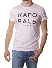 tee shirt kaporal 5 lime blanc