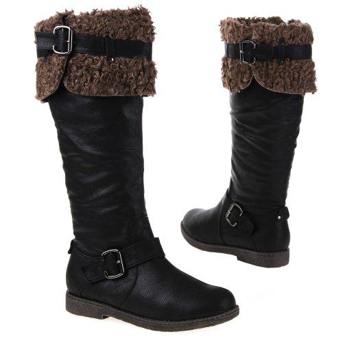 Damen Schuhe, BLWM0992-3, STIEFEL Schwarz