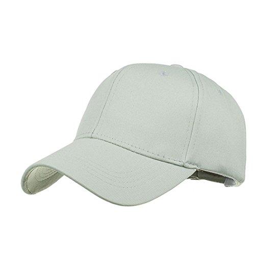 erthome Baseball Cap Damen Herren Sommer Cap Mode Solide Glitter Hüte Kappe Schatten (Grün) Damen Glitter-baseball-cap