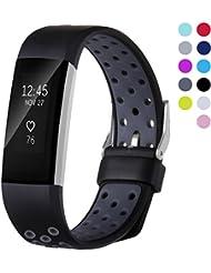 Ersatz für Fitbit Charge 2 Armband,Josmile TPU Weiches Silikon Sports Armbänder Silikagel Fitness verstellbares bänder für Fitbit Charge 2