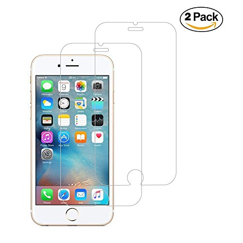 XCYYOO [2 Stück] Gehärteter Film für iPhone 6 Plus, Transparent Gehärtetem Glas Schutzfolie Ultra-Dünne 0,33mm / 9H Härtegrad [3D Touch Kompatibilität],HD Displayschutzfolie Displayschutz