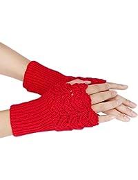 Stulpe Armstulpe kurz Handschuhe ohne Finger mit Angora Wolle /'/'1 Paar/'/' CH-8210
