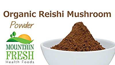 Organic Reishi Mushroom Powder - Superfood Supplement 25g FREE UK Delivery by MountainFresh