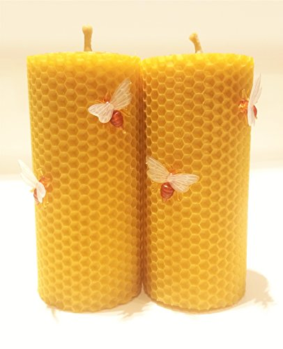 100-beeswax-honeycomb-pillar-candles-set-of-2-candles-13-cm-high-6-cm-width-eco-candle-hand-rolled-n