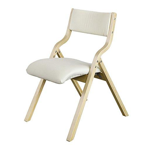 SoBuy FST40-W Klappstuhl Küchenstuhl mit gepolsterter Sitzfläche und Lehne  weiß