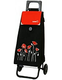 Garmol212Charriot de courses Flower Power 4roues, couleurs assorties