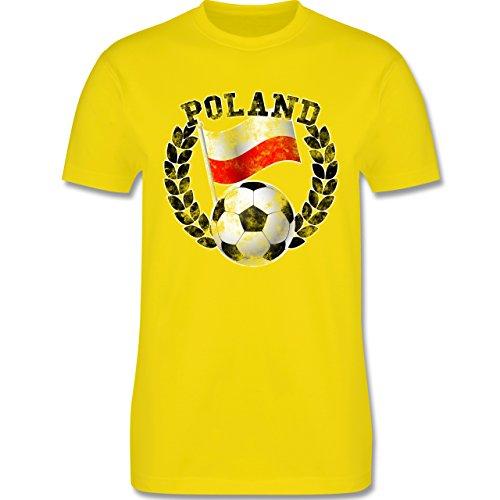 EM 2016 - Frankreich - Poland Flagge & Fußball Vintage - Herren Premium T-Shirt Lemon Gelb