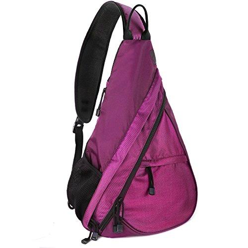 Imagen de pack de  bandolera unigear,  de senderismo para el pecho y los hombros  para ciclismo  escolar  pequeña para hombres mujeres chicos chicas adolescentes rojo morado