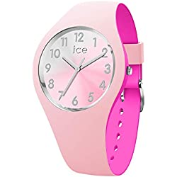 Ice-Watch - ICE duo chic Pink silver - Montre rose pour femme avec bracelet en silicone - 016979 (Small)