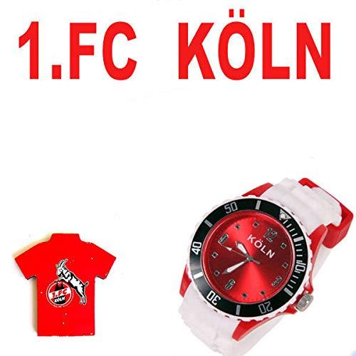 TV-24 Köln Armbanduhr + 1.FC Köln Magnetpin (Shop-tv)