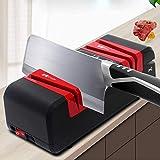 Dmqpp Couteau électrique affûteurs, Puissant for Une variété d'outils, Ciseaux/Vis à Fente Ne blessez Pas Le Couteau ou la Machine Rouge (Color : Red)