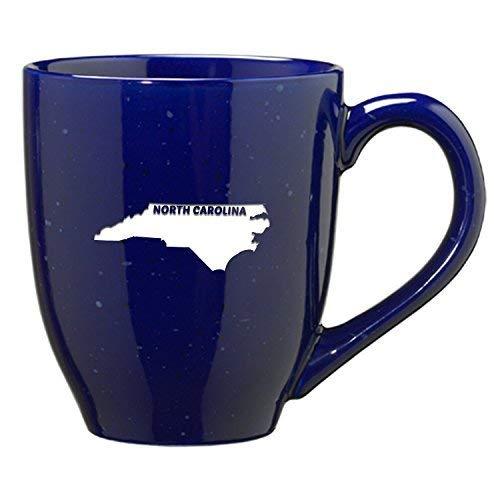 LXG Inc. North Carolina-State Outline-Kaffeebecher, Keramik, 454 ml, Blau