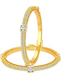 Sukkhi Marvellous Gold Plated American Diamond Bangle For Women