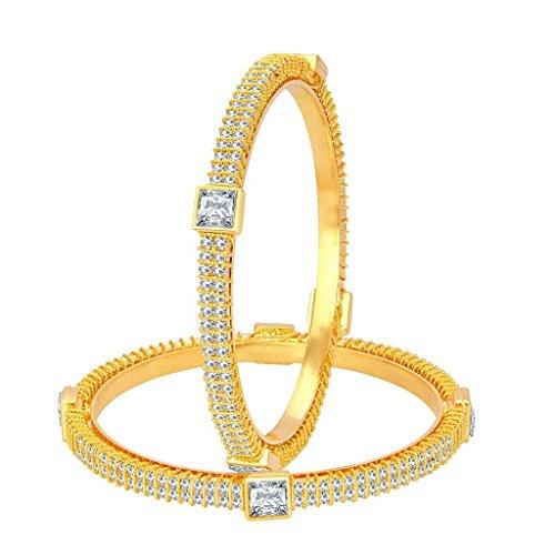 Sukkhi Marvellous Gold Plated American Diamond Bangle For Women