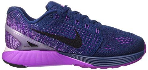 Nike Wmns Lunarglide 7, Chaussures de Sport Femme bleu (Brave Blue/Black-Vivid Purple)