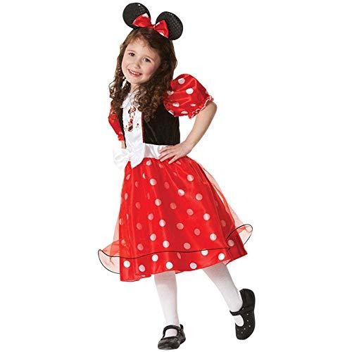 Geburtstag Prinzessin Bowknot Tutu Kleid Halloween Weihnachten Cosplay Karneval Pageant Nette Maus Dress Up Phantasie Kostüm Party Outfits mit Stirnband 1-6Y,S ()