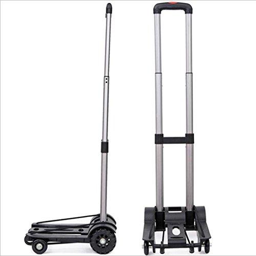 SSQCXO Lega di alluminio può essere pieghevole portatile Canne facile e conveniente shopping 4 ruote Carrello per valigie Può sostenere 50KG peso