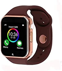 Tygot A1 Bluetooth 4G Touch Screen Smart Watch Phone with Camera, SIM Card, SD Card Slot Compatible with All Android and iOS Devices (Brown)