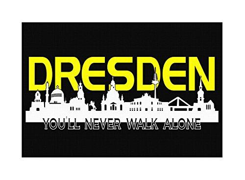 Dresden Skyline Premium Leinwand | Keilrahmen Bild Gemälde Wandbild (60 x 40 cm)