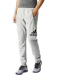 adidas Logo SWPT CH FL - Pantalón para hombre, color gris/negro, talla XL