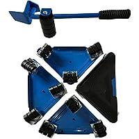 Mueble Lifter Moves Triple Wheels Mover Sliders Kit De Herramientas Inicio Sistema Móvil Adecuado Para Sofás Sofás Y Refrigeradores (Azul)