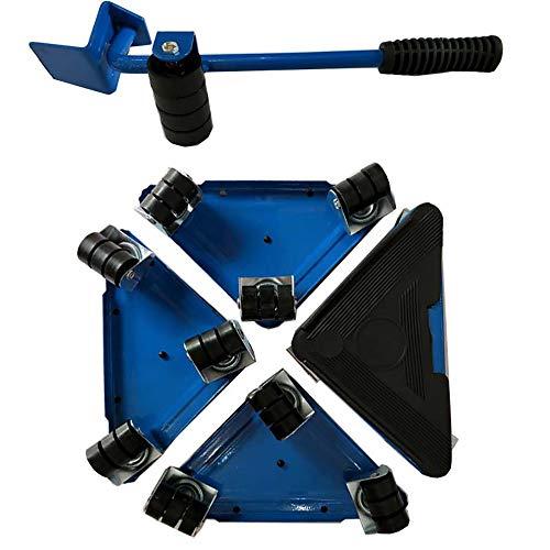 Möbelheber Bewegt Sich Triple Wheels Mover Sliders Werkzeug Kit Home Moving System Geeignet Für Sofas Sofas Und Kühlschränke (Blau)