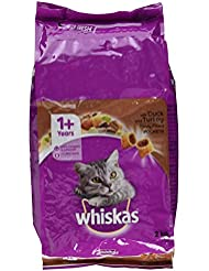 Whiskas 1+ Dry Cat Food for Adult cats Duck and Turkey, 2 kg