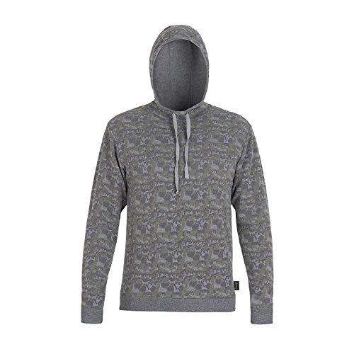 Jeep Herren J Man Woodland Print Brushed Fleece Hooded Sweatshirt J6W Sweatjacke, Khaki/Med.G.M, XXL Woodland Fleece-sweatshirt