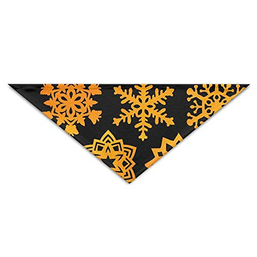Kostüm Selbstgemacht Hunde - Golden Snowflakes Turban Triangle Scarf Bib Scarf Accessories Pet Cat and Baby Puppy Saliva Dog Towel