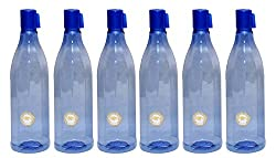 HARSHPET 29 MM DIAMOND BLUE WATER BOTTLE (SET OF SIX)