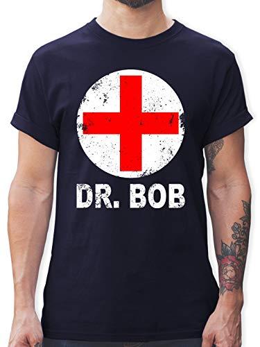 (Karneval & Fasching - Dr. Bob Kostüm Kreuz - M - Navy Blau - L190 - Herren T-Shirt Rundhals)