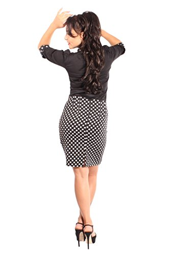 Pin Up Polka Dot rockabilly High Waist Punkte Pencil Rock Bleistiftrock -