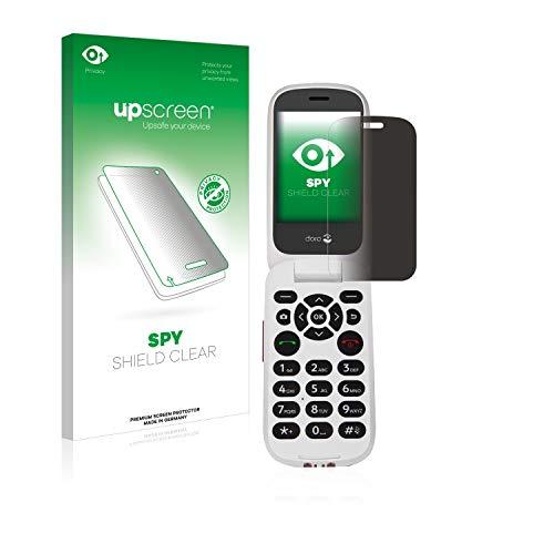 upscreen Spy Shield Clear Blickschutzfolie/Privacy für Doro 7060 (Inneres Bildschirm) (Sichtschutz ab 30°, Kratzschutz, selbstklebend)