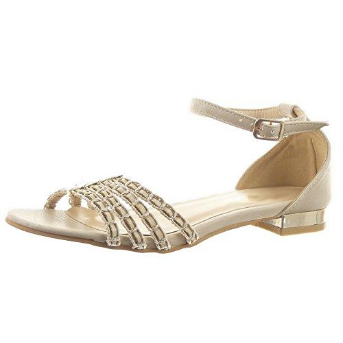 sopily-zapatillas-de-moda-sandalias-caa-baja-mujer-acabado-costura-pespunte-metlico-lneas-taln-tacn-