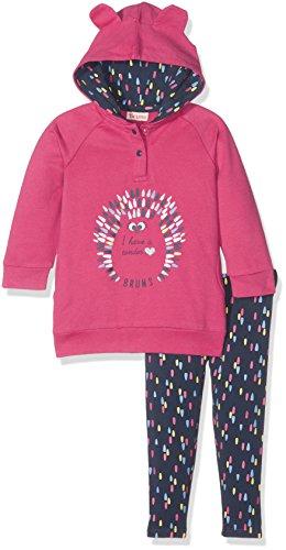 Brums Brums Baby-Mädchen Jogginganzug 173BEEP002, Pink (Rosa Intenso 049), 74 cm(Hersteller Größen:9M)