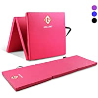 Gallant Gymnastics Exercise Mats - 6ft Long Tri Folding With High Density 5cm Thick Foam Soft PU Leather Non Slip Surface Carry Handles For Gym Crash Tumble Track Yoga Pilates Floor Workout Equipment