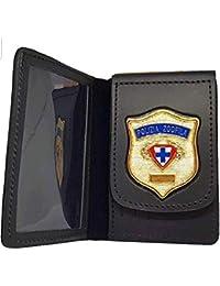 economico per lo sconto 2d51a 1c24c Amazon.it: porta distintivo - Portafogli e porta documenti ...