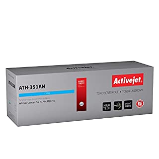 ActiveJet ATH-351AN Replacement for HP CF351A Remanufactured Laser Toner Cartridge - Cyan
