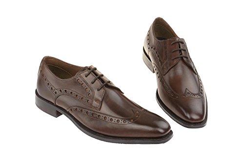 Gordon & Bros Lorenzo S500310 Herren Businessschuhe, Schnürhalbschuhe, Anzugsschuhe, Derby Blake Leder Brown