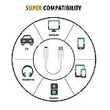 Luvfun AUX Adapter, Kopfhörer Adapter 3,5 mm (1-Pack) Klinke Adapter kopfhöreranschluss Adapter kopfhörer -Weiß