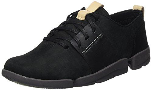 Clarks Damen Tri Caitlin Sneaker, Schwarz (Black Combi), 38 EU (Clarks Freizeitschuhe)